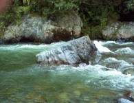 River rock at Otaki Forks