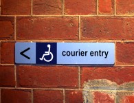 Courier sign