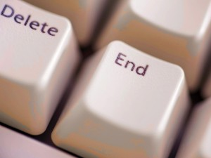 Delete and end buttons