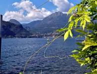 Looking across Lake Como