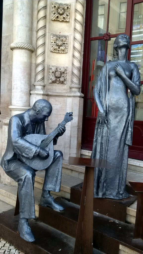 Fado sculptures outside a central Lisbao building