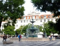 A fountain in the Place du Rossio, Lisboa