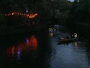 Boating on Pukekura Park, New Plymouth